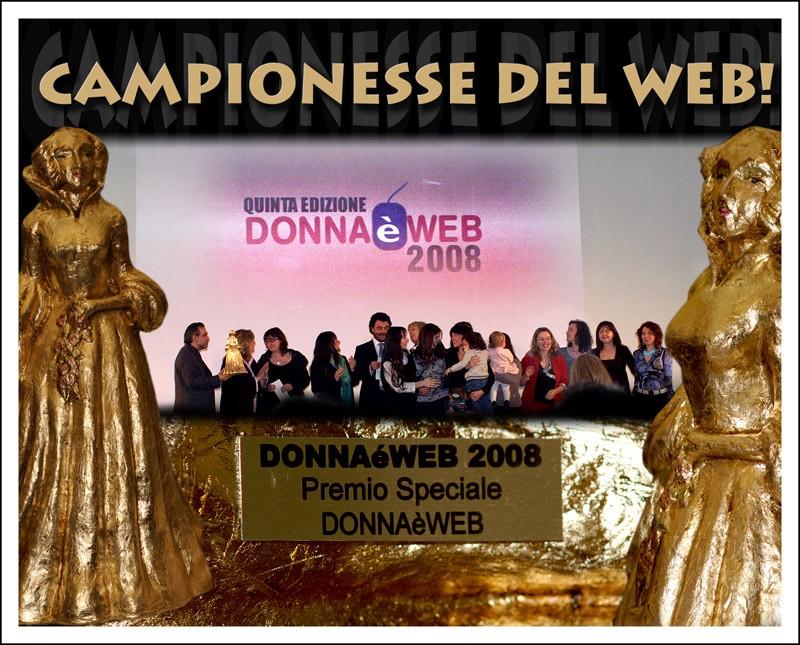 Donna è Web 2008:  abbiamo vinto!