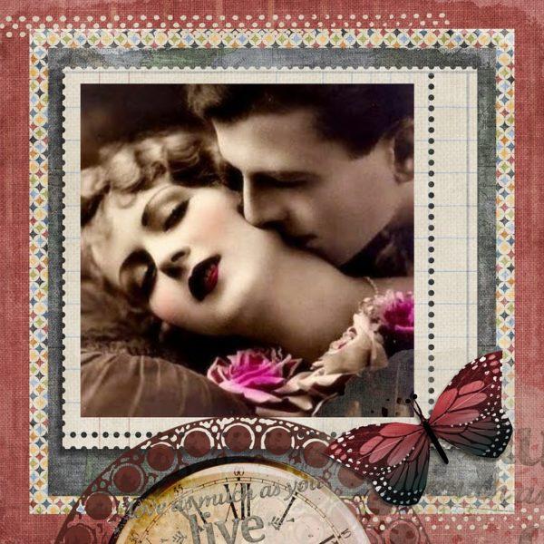 Coppia innamorata vintage