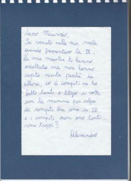 Compiti a casa: Lettera di un bambino di quarta elementare. | Noi Mamme