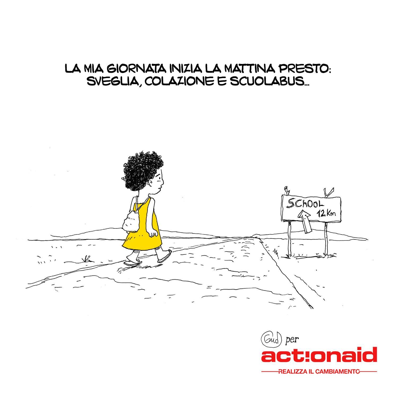La giornata di una bambina: le vignette che ci aiutano a capire i diritti negati all'infanzia