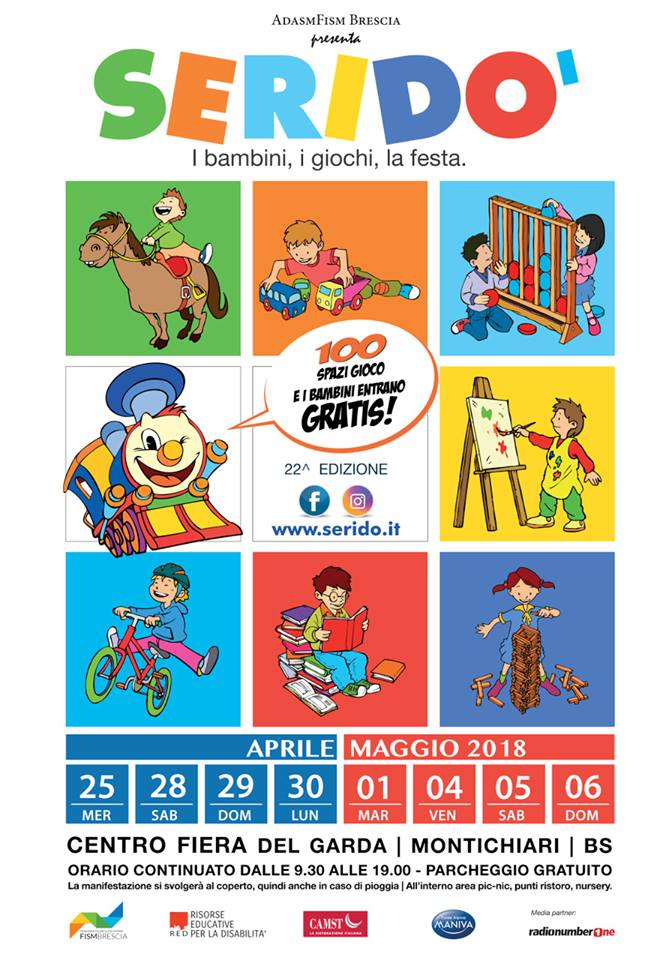 Il 25 aprile inizia la ventiduesima edizione di Seridò, un mondo tutto dedicato ai bambini