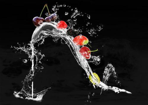 pelle sana frutta, verdura, acqua