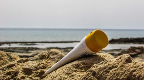 Crema solare resistente all'acqua