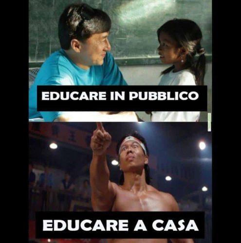 meme educare in pubblico