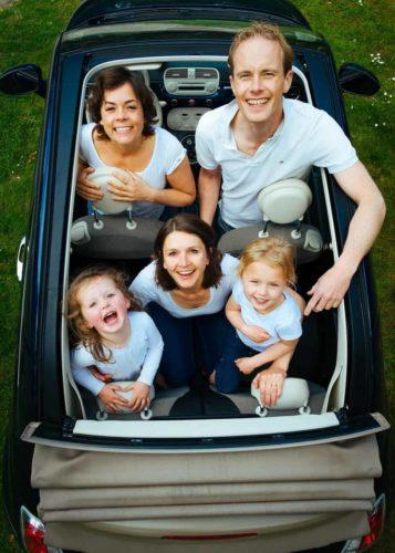 viaggio in macchina in famiglia