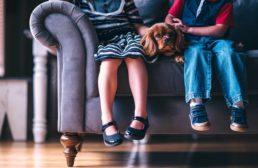 Interazione cani e bambini