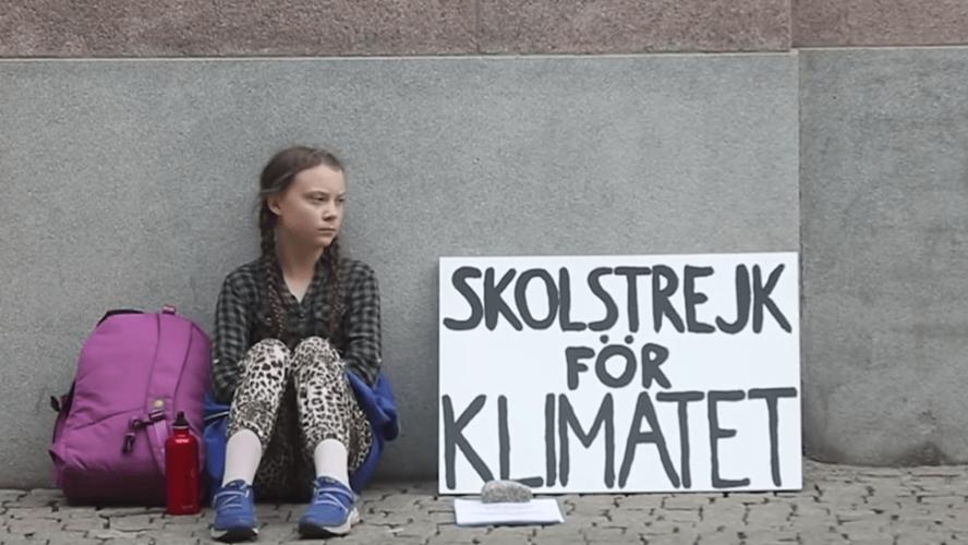 Il primo sciopero di Greta Thunberg